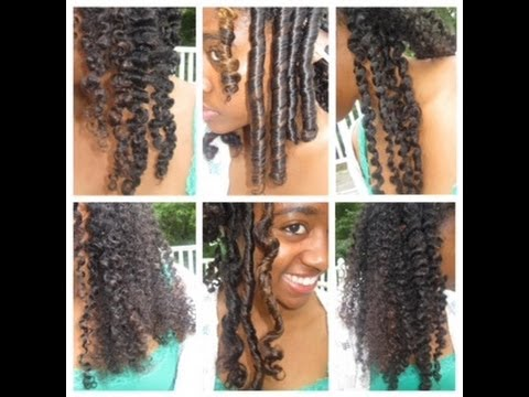 6 Natural Hair Styles And Curls Flexi Rods 2 And 3