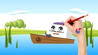 Learning to Draw And Color Big Block Sing Song For Toddlers -  Magic Ship - Puzzle Kid