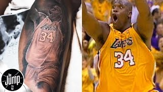 Shaq's son got a tattoo that pays tribute to one of his dad's most iconic moments | The Jump