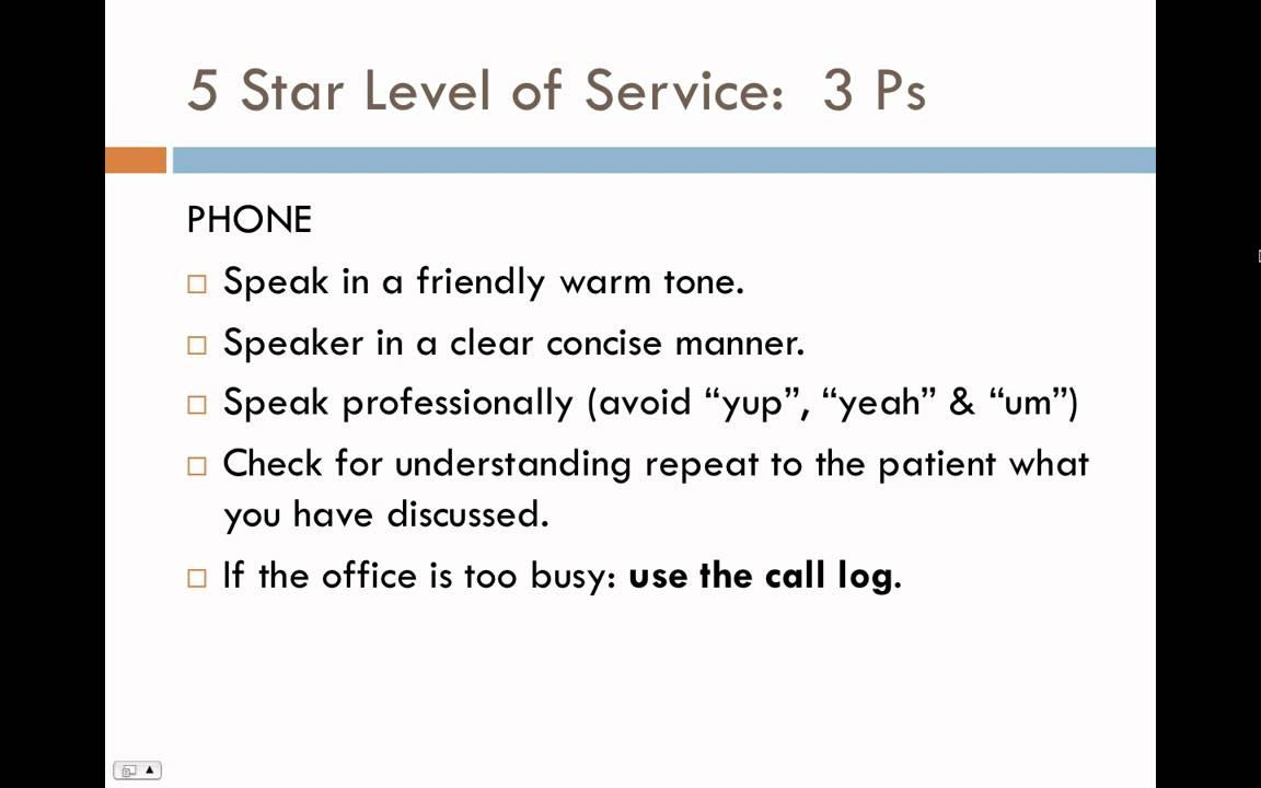 Customer service training module