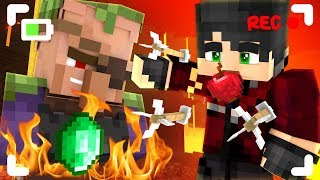 We brought BAD LUCK to this village in Minecraft!