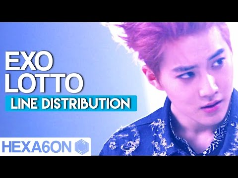 EXO - LOTTO Line Distribution (Color Coded)
