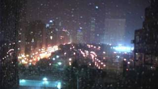 Tornado Warning -- Chicago, August 4th 2008 and Building Getting Struck By Lighting