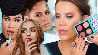 TESTING YOUTUBERS MAKEUP COLLABS | Patrick Starrr - Kathleen Lights - Hank & Henry