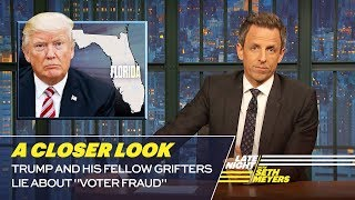 "Trump and His Fellow Grifters Lie About ""Voter Fraud"": A Closer Look"
