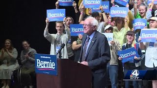Presidential candidate Bernie Sanders makes a campaign stop in the Upstate