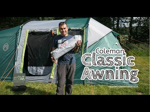 video Coleman Classic Awning – A simple way to add shelter to your tent