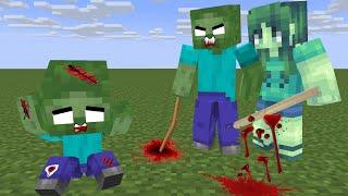 Monster School : SAD ZOMBIE LIFE  - minecraft animation