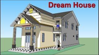 Nhà cấp 4 Mái Thái Gác Lửng 6X19m - Dream House