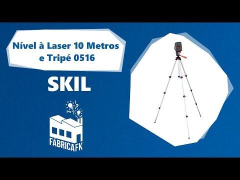 Nível à Laser 10 Metros Com 3 Linhas E Tripé 0516 Skil - Vídeo explicativo