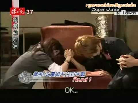 [eng sub] Ryeowook arm wrestles Patty Hou