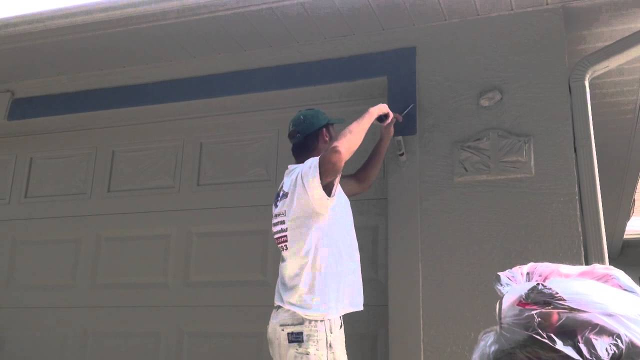 Exterior Door Trim >> How to use a mini paint roller on exterior stucco bands ...
