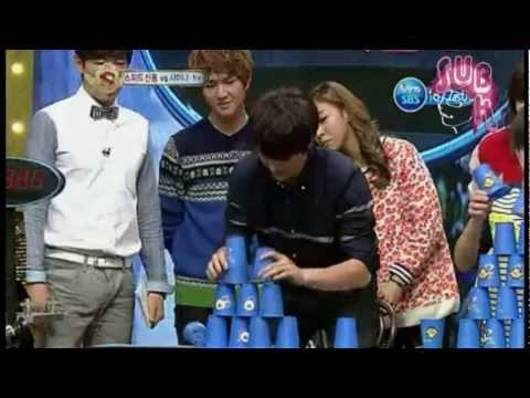 121117 Star King Ep 290 - SHINee and f(x) Cup Stacking Part 4/4
