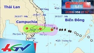 Bão số 14 đã suy yếu thành áp thấp nhiệt đới | ĐƯỜNG DÂY NÓNG ONLINE - 19/11/2017