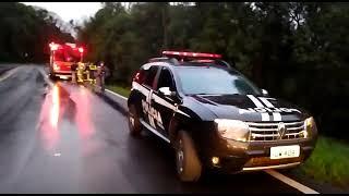 Duas pessoas morrem em grave acidente de trânsito no km 52 da BR-116, em Vacaria