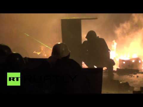 Ukraine: Kiev ablaze as protesters and police battle for Maidan