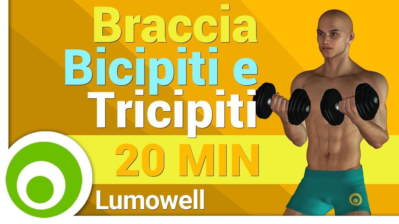 esercizi per dimagrire le braccia con i pesi
