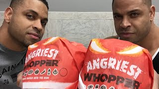 Eating Burger King's Angriest Whopper @hodgetwins