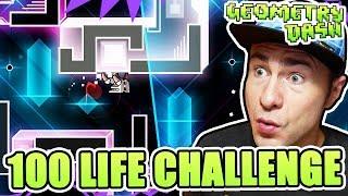 Geometry Dash 100 LIFE CHALLENGE // I Made a GD Challenge Based on the 100 Mario Challenge