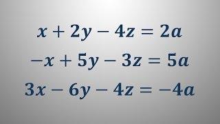 Sistem treh linearnih enačb 3
