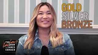 Chloe Kim Plays Gold Silver Bronze