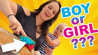 SURPRISE BABY GENDER REVEAL CAKE! BOY OR GIRL??