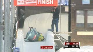 Brazilian Women barely survive bobsled crash - from Universal Sports