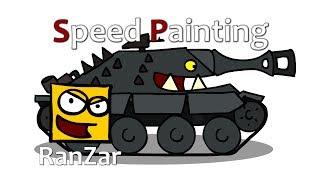 Speed Painting Hetzer. RanZar. Рандомные Зарисовки.