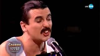 "Славин като Freddie Mercury от Queen - ""Somebody to Love"" | Като две капки вода"
