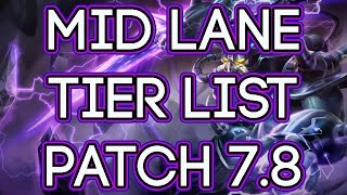 Mid Lane Tier List Patch 7.9   Best Mid Laners For Carry Solo Queue 7.9