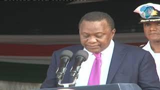 President Uhuru Kenyatta's light moment at the launch of Kisii Hospital Project