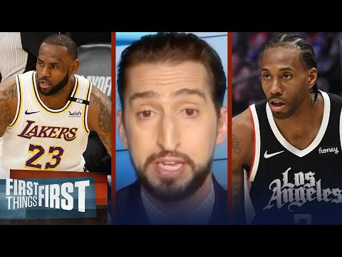 Lakers or Clippers? Nick Wright decides who needs to win Game 2 more | NBA | FIRST THINGS FIRST