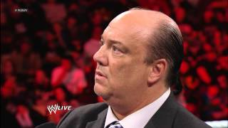 Mr. McMahon tells Paul Heyman they're going to fight next week on Raw: Raw, Feb. 18, 2013