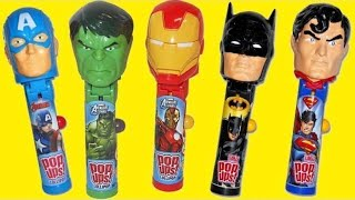 SUPERHERO Avengers Justice League Lollipop Ups, Ironman, Captain America Batman TUYC