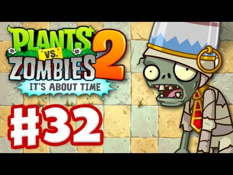 Plants vs. Zombies 2: It's About Time - Gameplay Walkthrough Part 32 - Ancient Egypt (iOS) - ZackScottGames  - KiFkTxv_s4w -