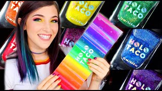 NEW Holo Taco Rainbow Linear Holo Collection from Simply Nailogical! || KELLI MARISSA