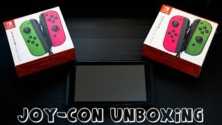 The COMPLETE Neon Green & Neon Pink Joy Cons Unboxing
