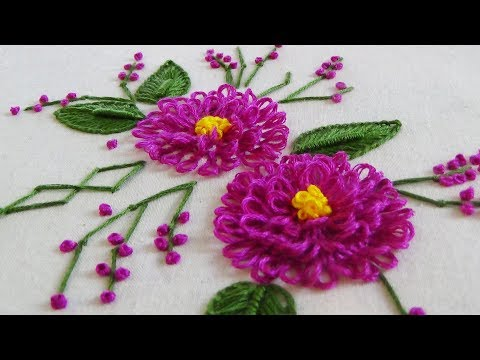 Hand Embroidery Whipped Spiderweb Stitch Videomoviles