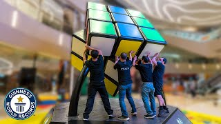 World's Biggest Rubik's Cube Revealed - Guinness World Records