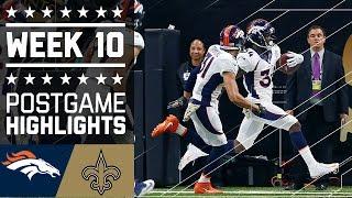 Broncos vs. Saints | NFL Week 10 Game Highlights