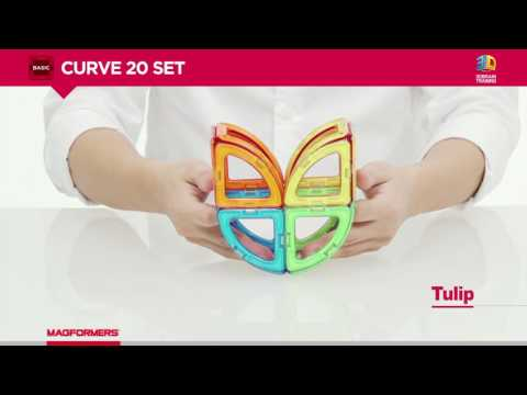 Magformers Curve 20 - Magnetic Construction Set