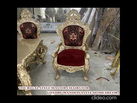 Royal Style Handicraft Dining Table Set| Best Dining Room Furniture Table Chairs