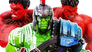 Hulk Family VS Red Hulk~ Raknarok HULK SMASH Collection !!! Avengers Superhero Toy - Toy Marvel