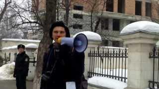 Protest civico-ecologic la ambasada României în RM