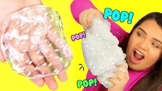 DIY Bubble Wrap Slime! Super Crunchy Popping Slime!