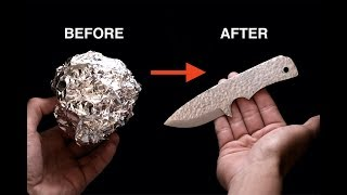 Turning Aluminium Foil into a Knife
