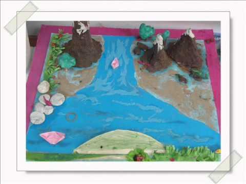 Landform Map Island For Kids