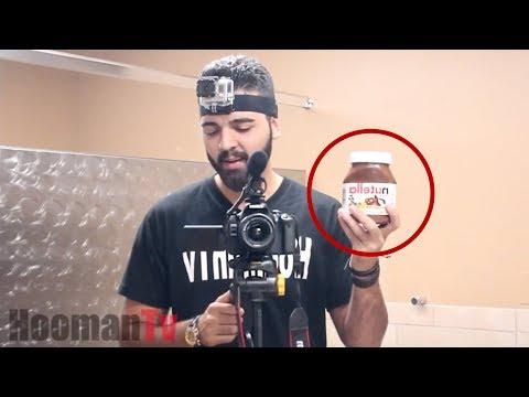 Nutella Restroom Prank! - YouTube