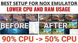 NOX best setup to lower CPU AND RAM USAGE + other tricks to use for multi-instance