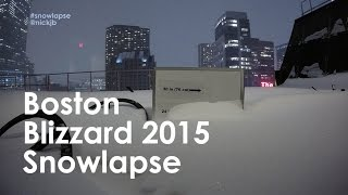 Boston Blizzard 2015 #Snowlapse - Watch the snow pile up! (40-hour time lapse in HD)